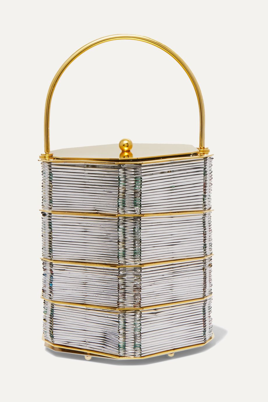 Vanina Le Puits D'Amour gold-plated and woven tote