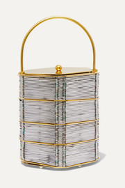 Le Puits D'Amour gold-plated and woven tote