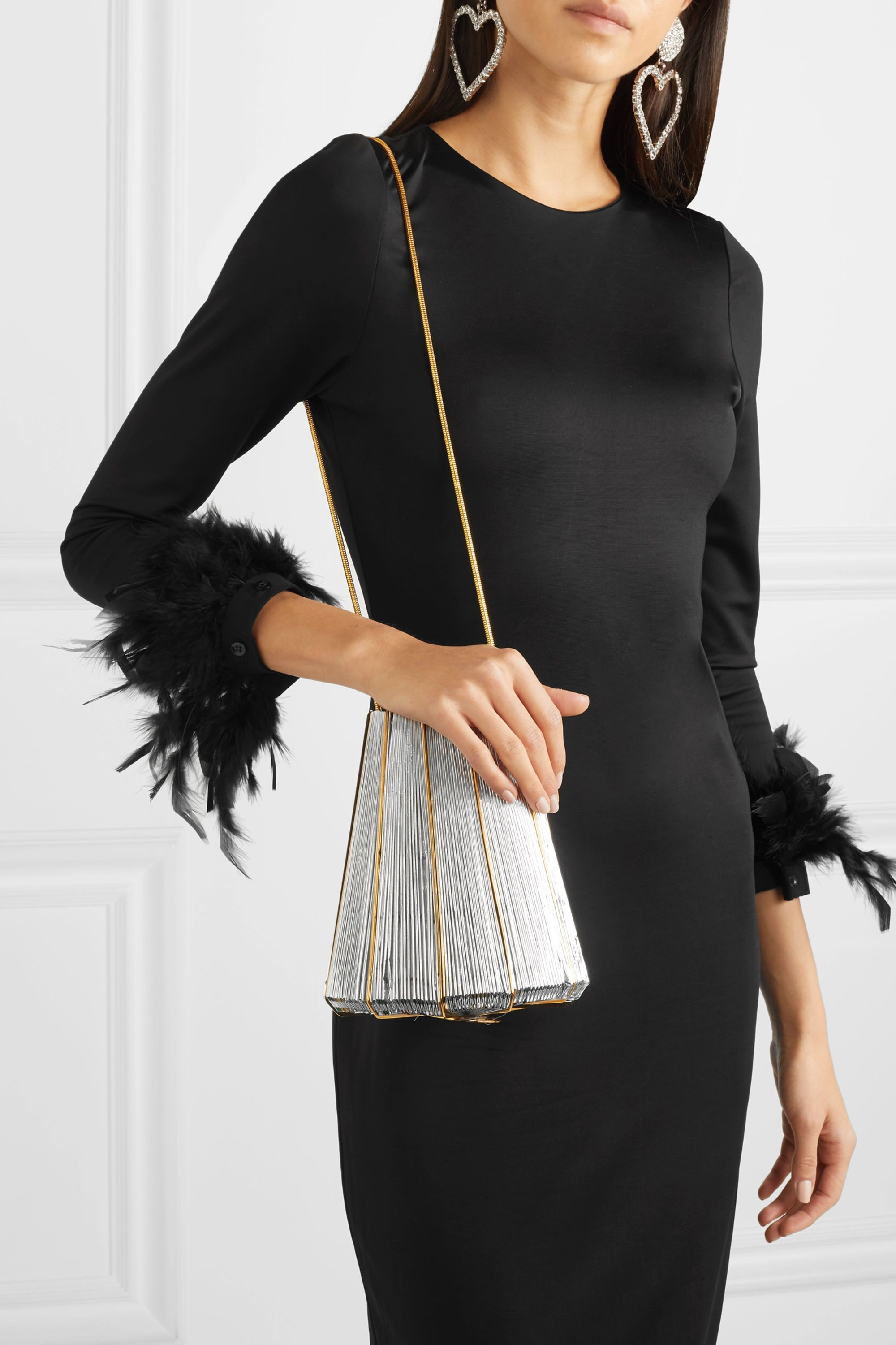 Vanina Le Cannelé gold-plated and woven shoulder bag