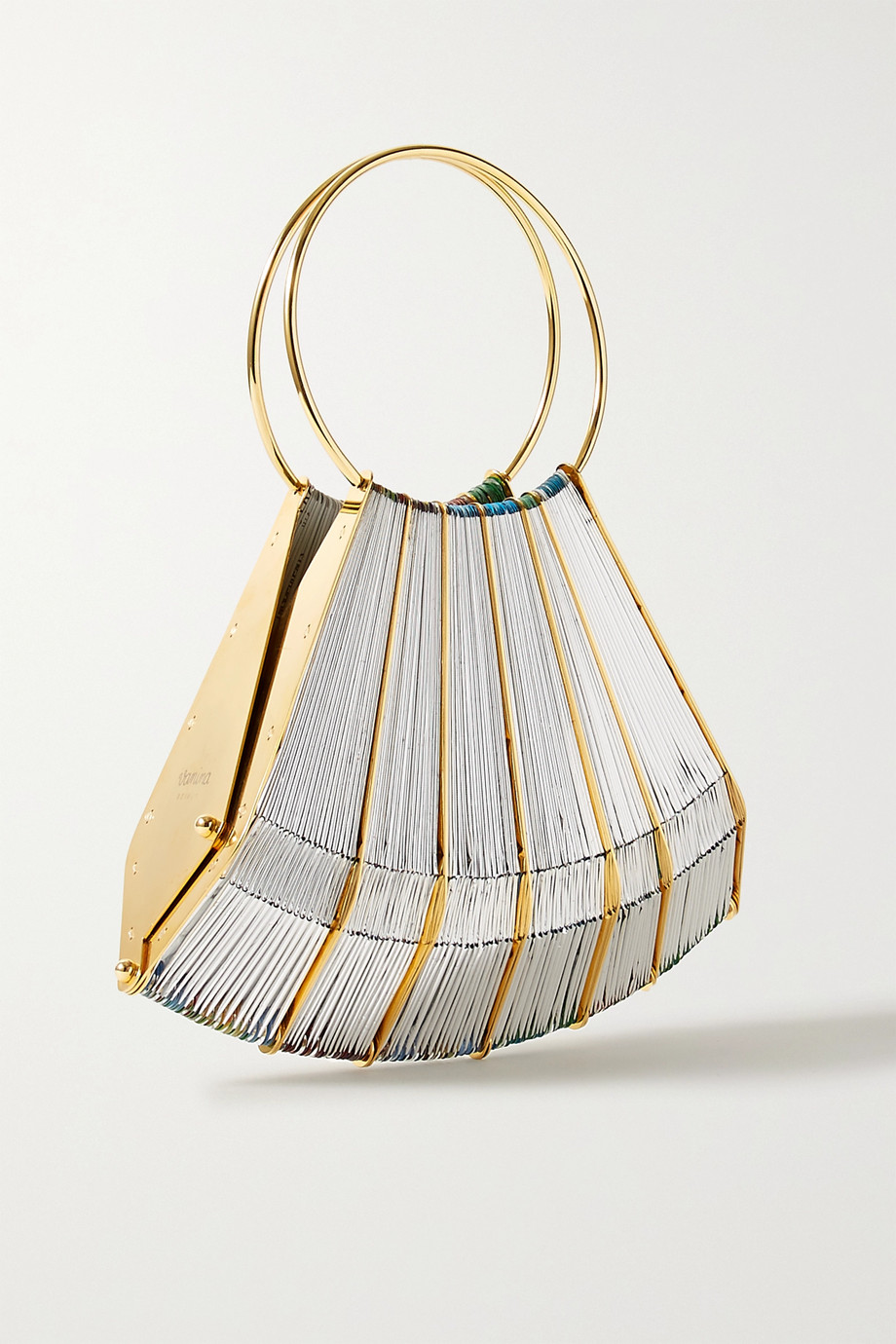Vanina Le Vol Au Vent gold-plated and woven tote