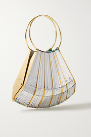 Le Vol Au Vent gold-plated and woven tote