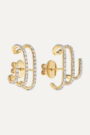 Penelope 18-karat gold diamond earrings