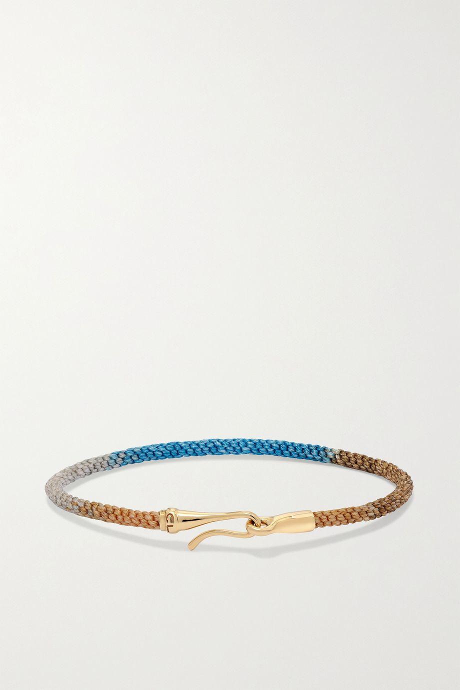 OLE LYNGGAARD COPENHAGEN Life 18-karat gold and rope bracelet
