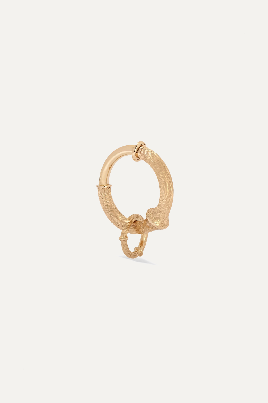 OLE LYNGGAARD COPENHAGEN Nature small 18-karat gold hoop earring