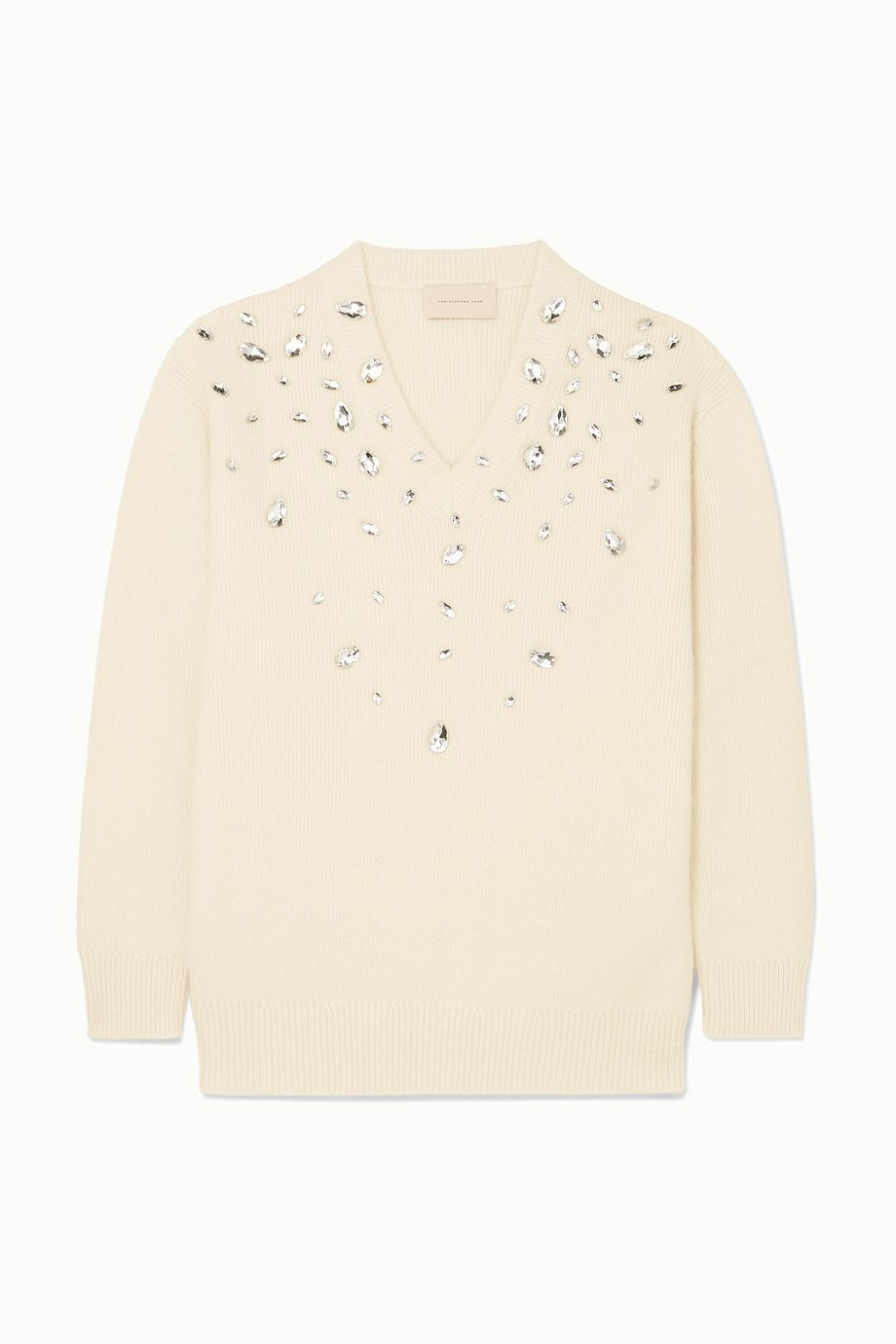 Christopher Kane Oversized crystal-embellished cashmere and silk-blend sweater