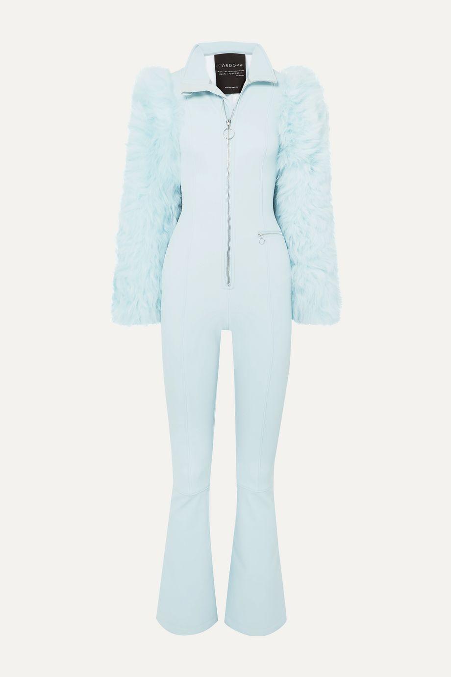 Cordova Chamonix shearling-paneled stretch ski suit