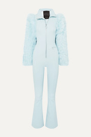 Cordova Chamonix shearling-paneled stretch ski suit