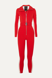 Cordova striped stretch ski suit