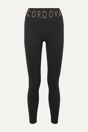 Cordova Signature ribbed intarsia stretch-knit leggings