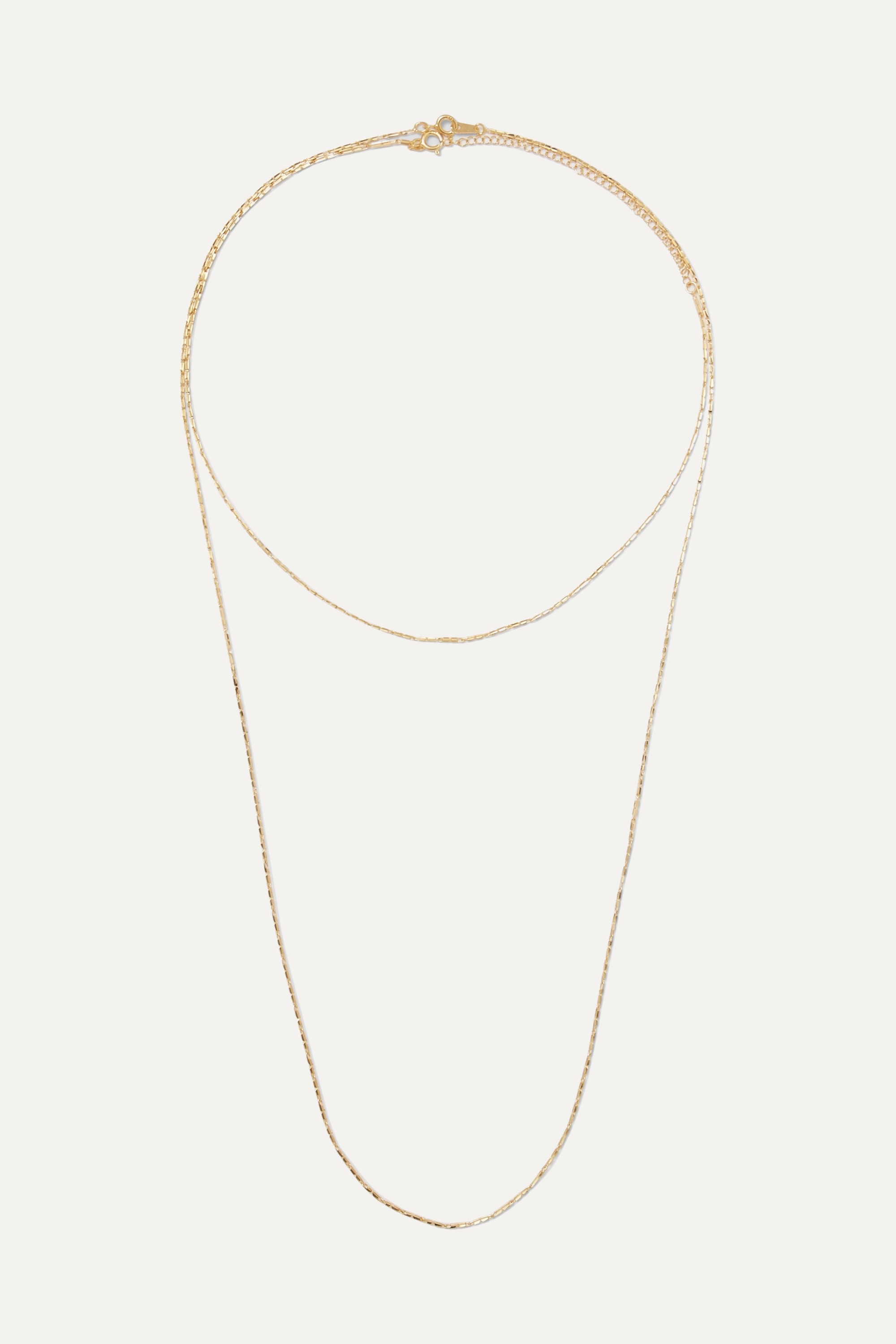 1064 Studio Colors of Shadow set of two gold-plated necklaces