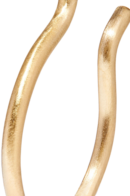 1064 Studio The Hoop set of three gold-plated earrings