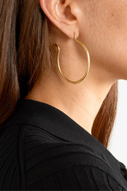 The Hoop gold-plated earrings