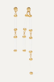 1064 Studio Colors of Shadow gold-plated and acrylic earrings