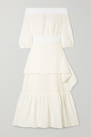 Zeus+Dione Selene off-the-shoulder broderie anglaise cotton midi dress