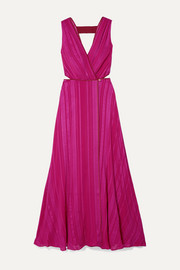 Zeus+Dione Rosa cutout silk-blend jacquard wrap dress