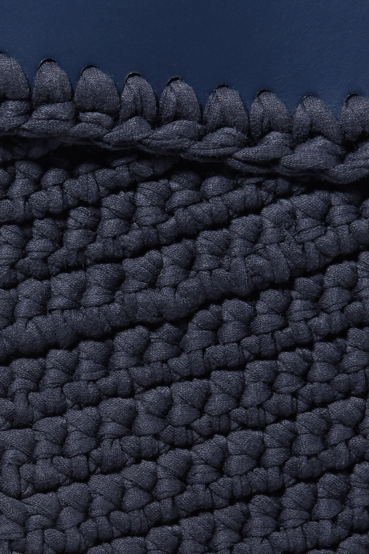 Mizele Business mittelgroße Tote aus gehäkelter Baumwolle mit Einsätzen aus Leder