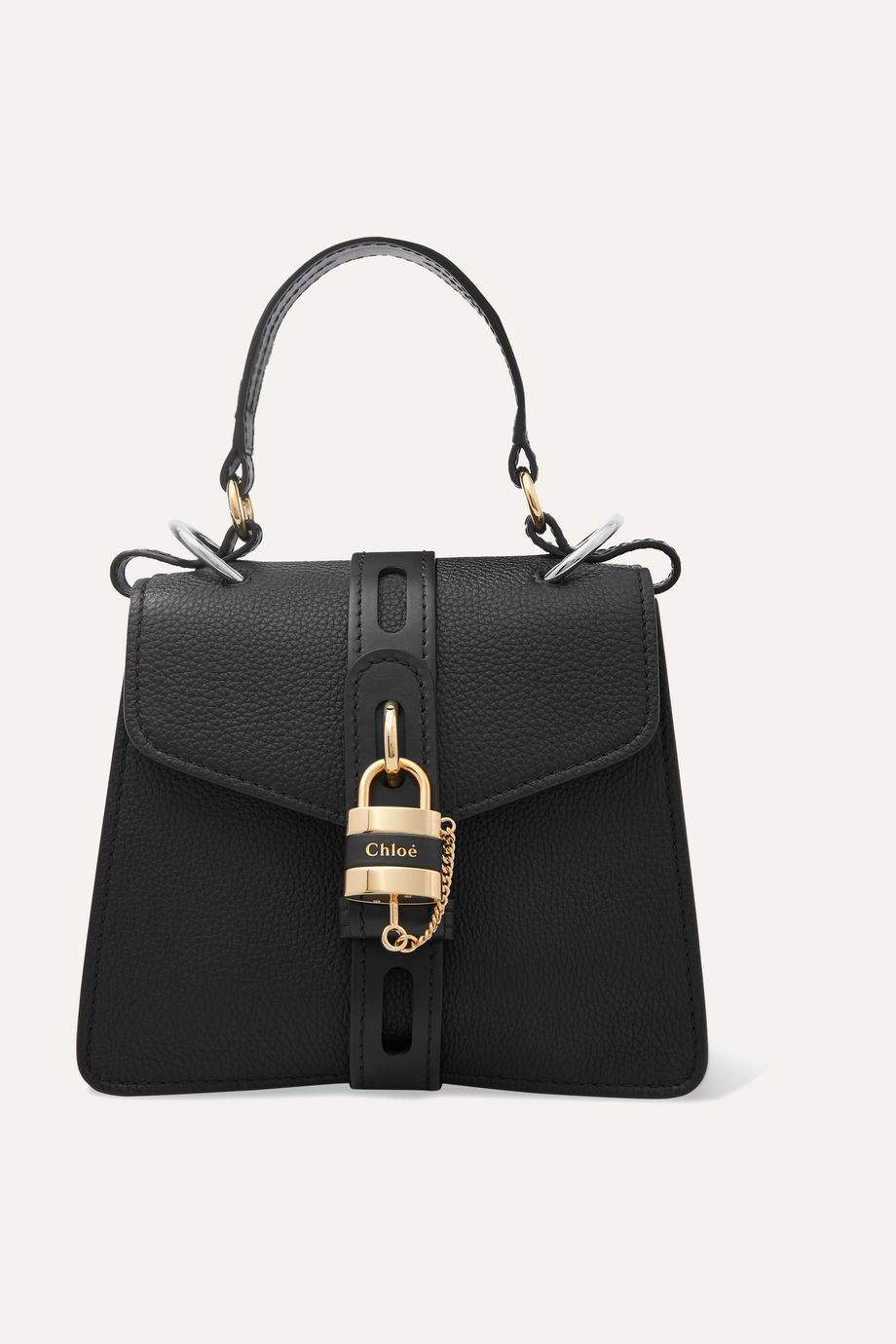 Chloé Aby small textured and smooth leather tote
