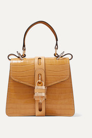 Aby small croc-effect leather tote