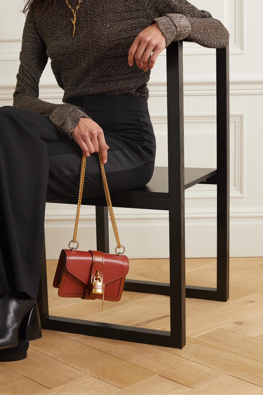 Chloé Aby Chain mini Schultertasche aus strukturiertem Leder