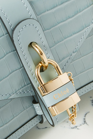 aby-chain-small-croc-effect-leather-shoulder-bag by chloé