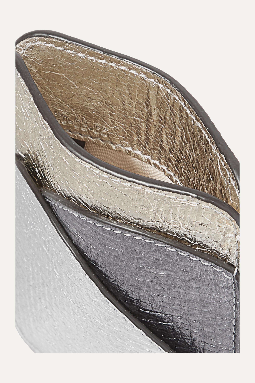 Chloé Walden 拼色金属感纹理皮革卡夹