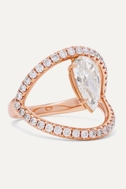 Arc 18-karat rose gold diamond ring