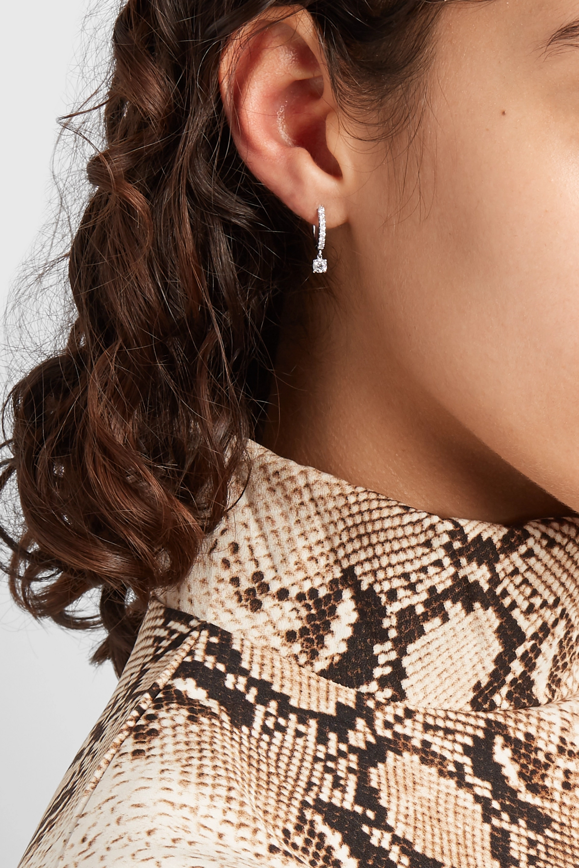 White Gold 18-karat Diamond Hoop Earring | Anita Ko