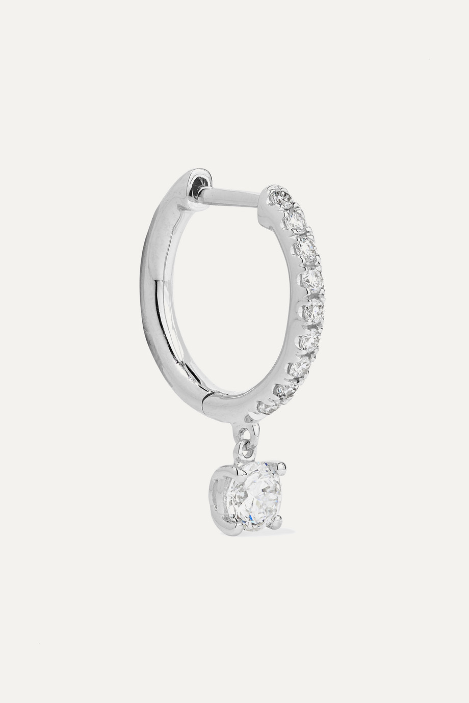 Anita Ko 18-karat white gold diamond hoop earring