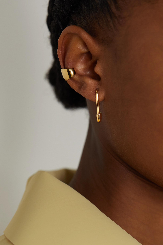 Anita Ko Safety Pin Ohrring aus 18 Karat Gold