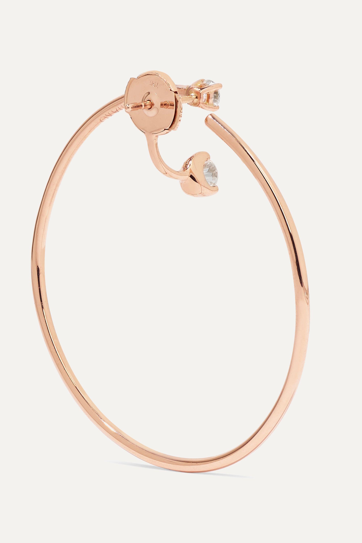 Anita Ko Bardot 18K 玫瑰金钻石耳环