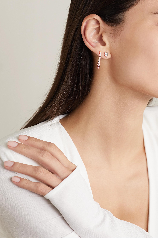 Anita Ko Palm Leaf small 18-karat rose gold diamond earrings