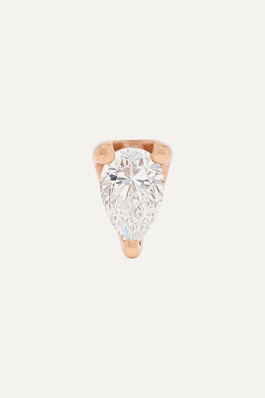 Anita Ko 18-karat rose gold diamond earring