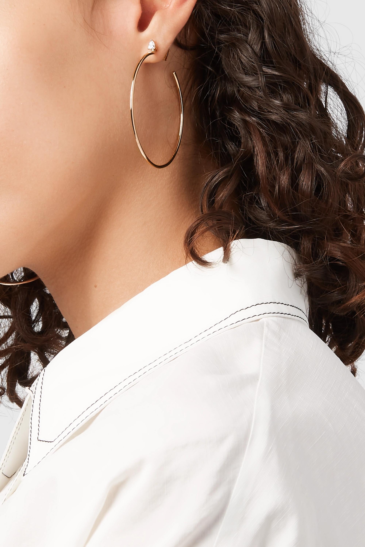 Anita Ko 18-karat rose gold diamond hoop earrings