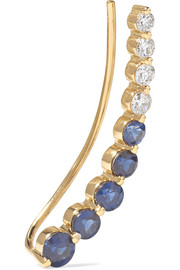 18-karat gold, sapphire and diamond ear cuff