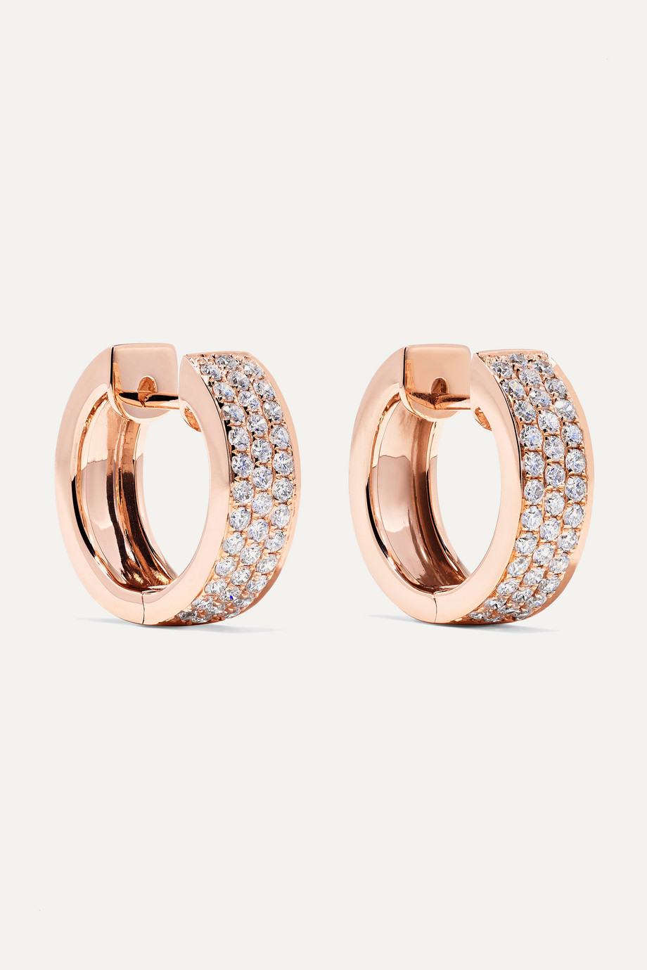 Anita Ko Huggies Creolen aus 18 Karat Roségold mit Diamanten