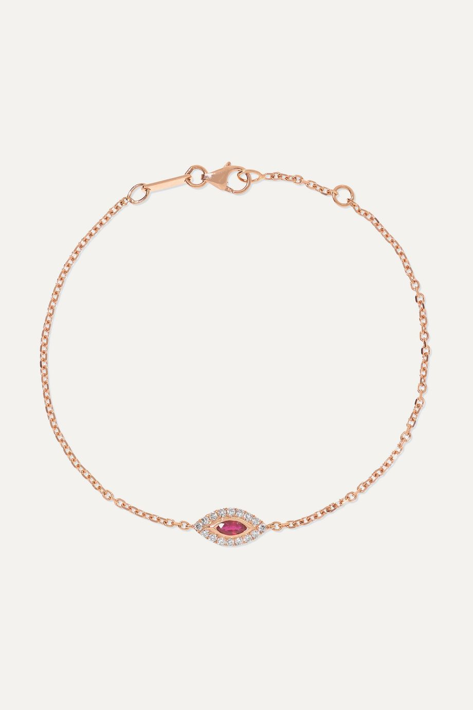 Anita Ko Evil Eye 18-karat rose gold, ruby and diamond bracelet