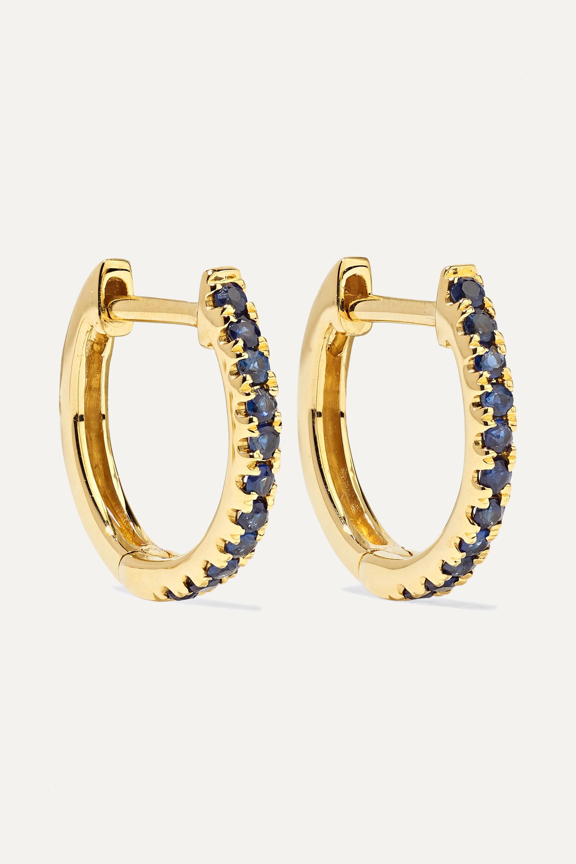 Anita Ko Boucles d'oreilles en or 18 carats et saphirs Huggies