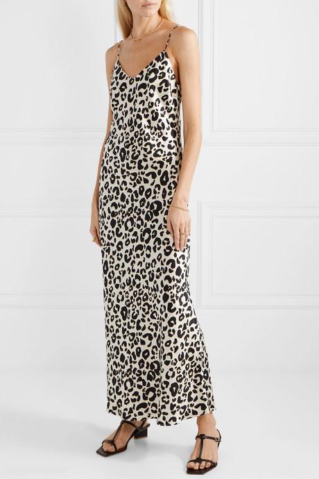 Rosemary leopard-print silk-satin maxi dress