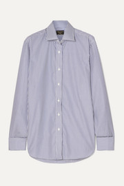 Emma Willis Striped cotton-poplin shirt