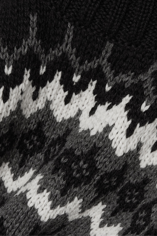 &Daughter Bansha Fair Isle merino wool turtleneck sweater
