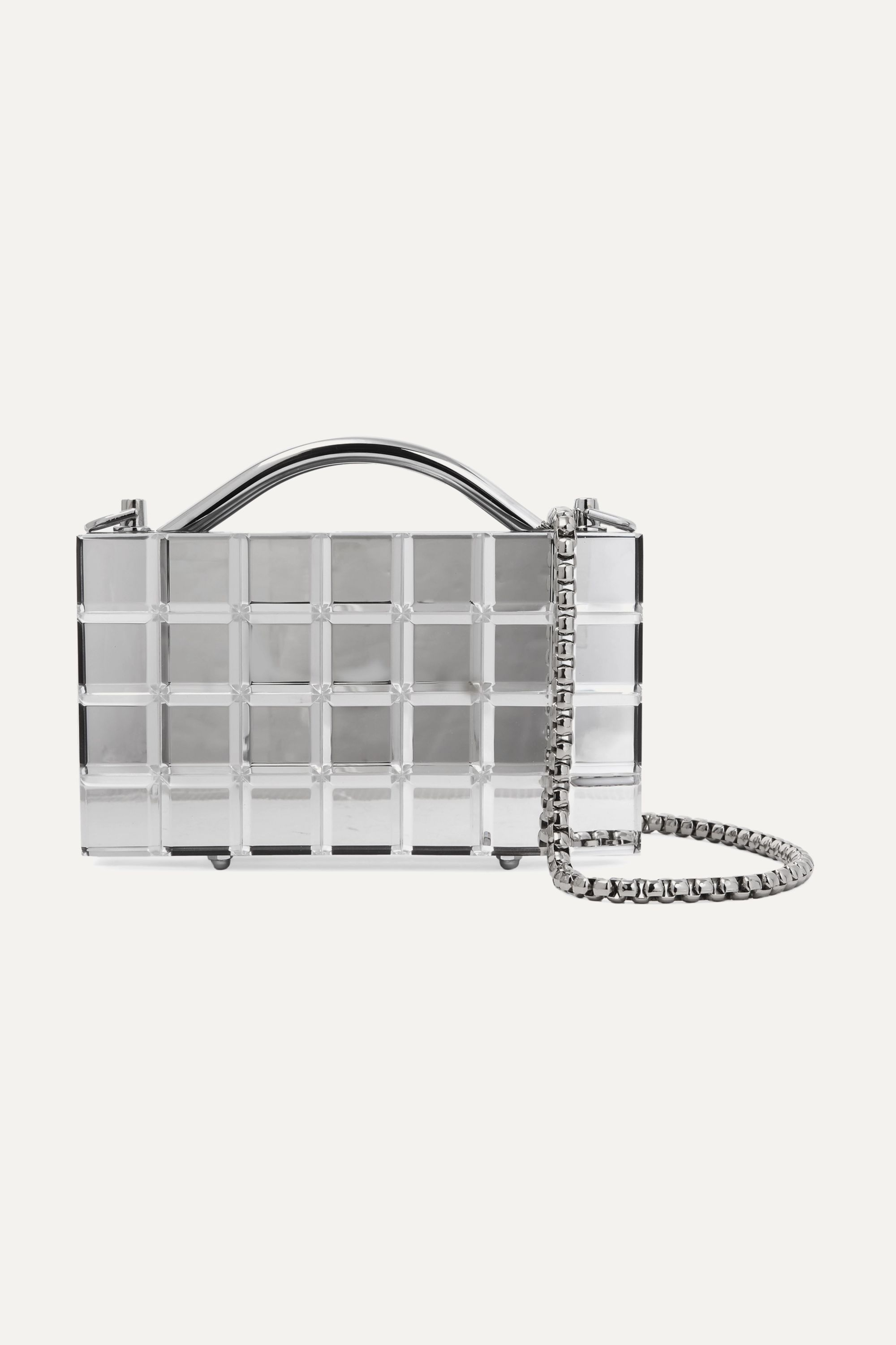 L'AFSHAR Lou Lou mirrored-acrylic tote