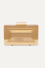 Leora mirrored-acrylic clutch