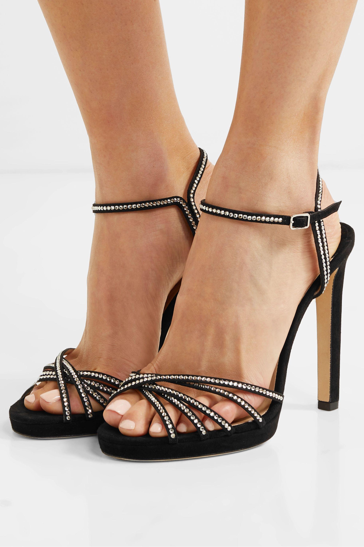 Jimmy Choo Lilah 120 crystal-embellished suede sandals
