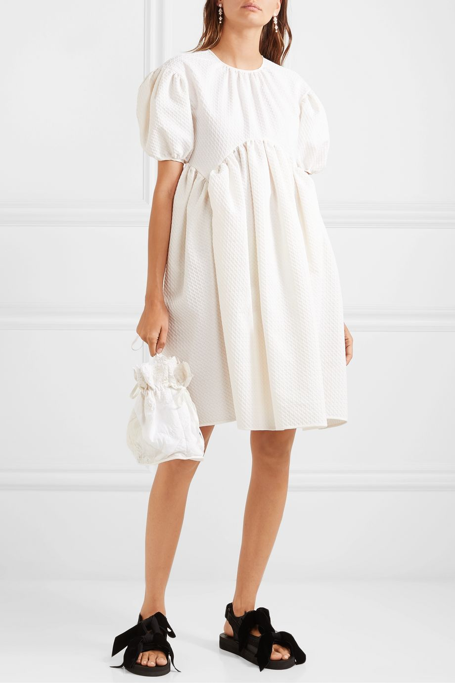Cecilie Bahnsen + Sophie Bille Brahe Thelma oversized cotton-blend cloqué dress