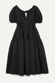 + Sophie Bille Brahe Tiered mattelassé silk-blend dress