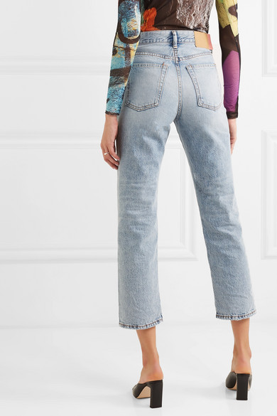 Acne Studios Jeans Cropped high-rise straight-leg jeans