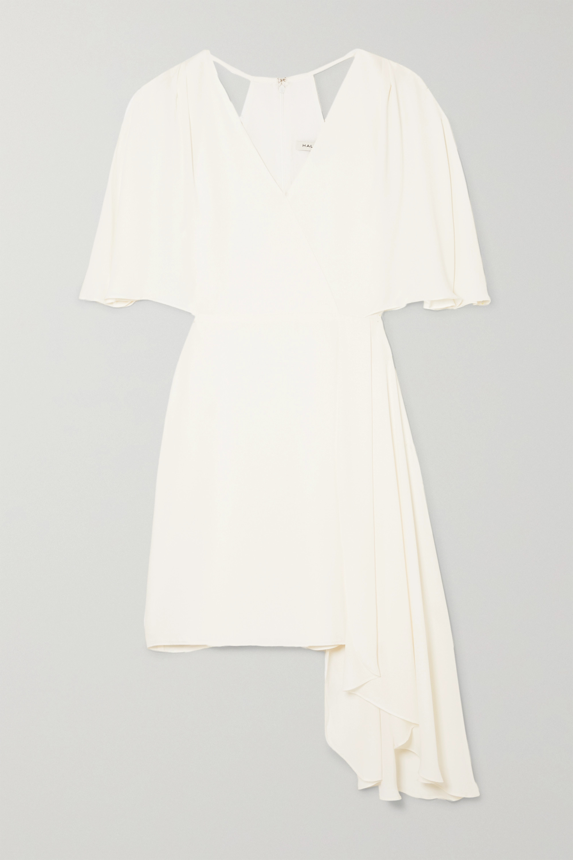 Halston Cutout draped chiffon mini dress