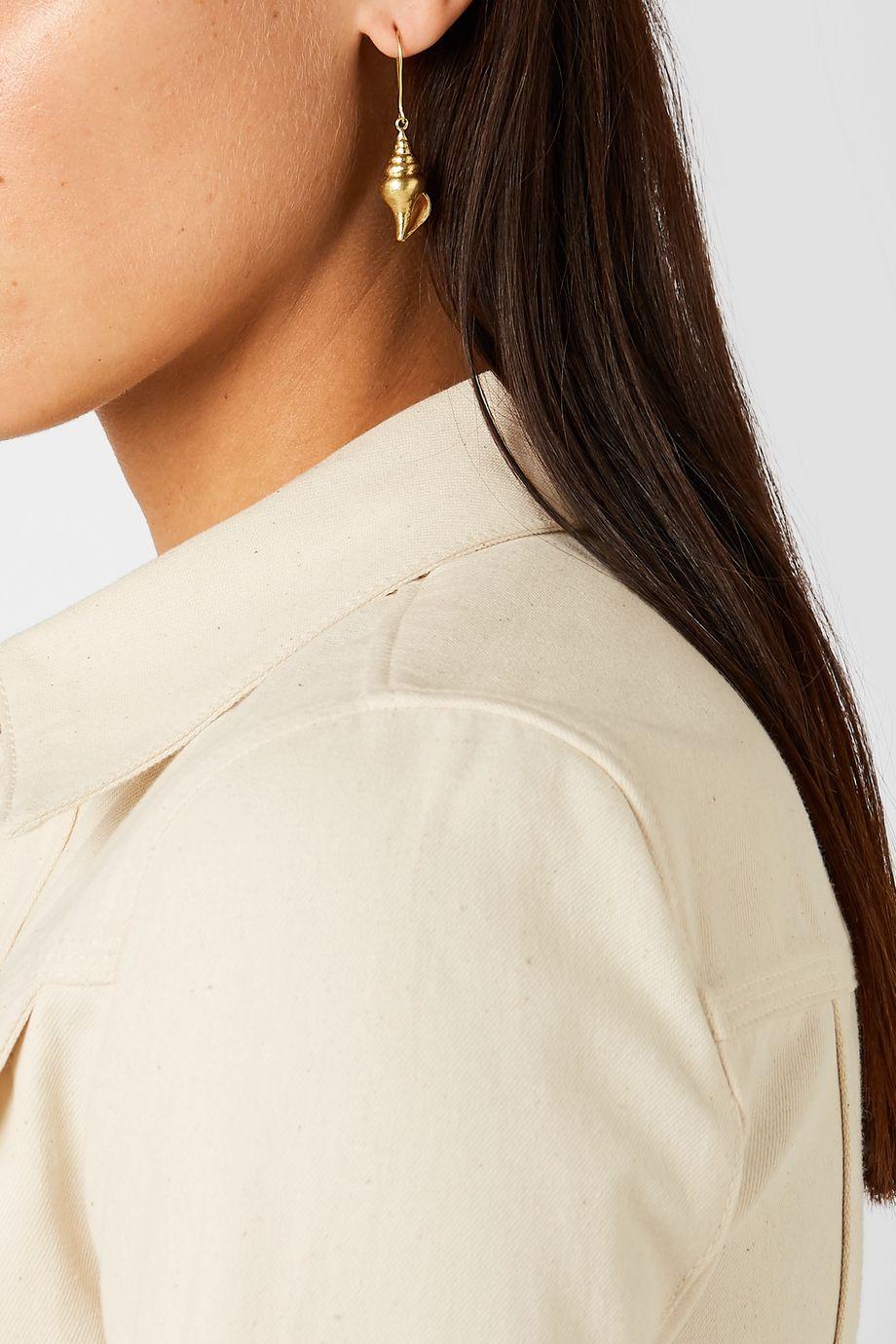 Pippa Small + NET SUSTAIN 18-karat gold earrings