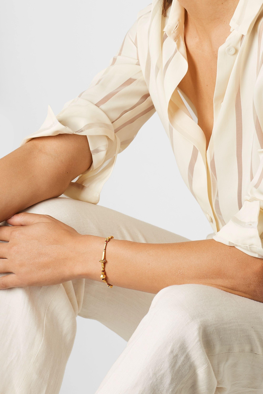 Pippa Small + NET SUSTAIN 18-karat gold and cord bracelet