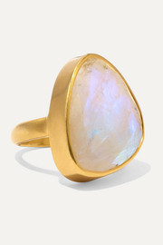 Pippa Small 18-karat gold moonstone ring